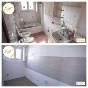 Umstrukturierung der Zweizimmerwohnung 39qm Badezimmer