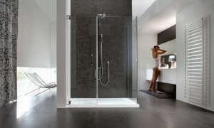 quadratische Duschkabine