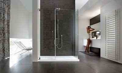 square shower