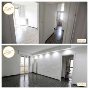 Renovation of two-room apartment houses 45sqm room