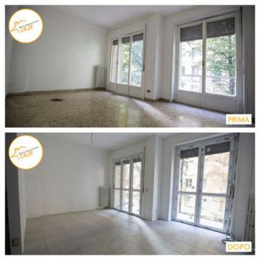 Ristrutturazione case appartamento bilocale sala 66mq