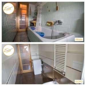 Renovation of houses apartment bathroom 6sqm tiles
