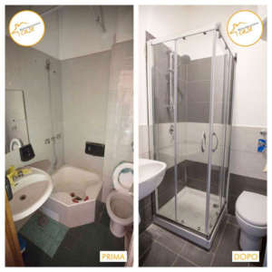 Renovation of houses apartment studio bathroom 14sqm