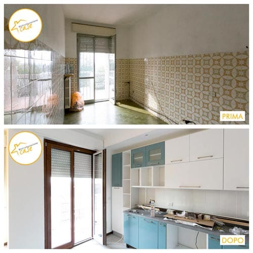 Renovation of kitchen hall and bathroom houses