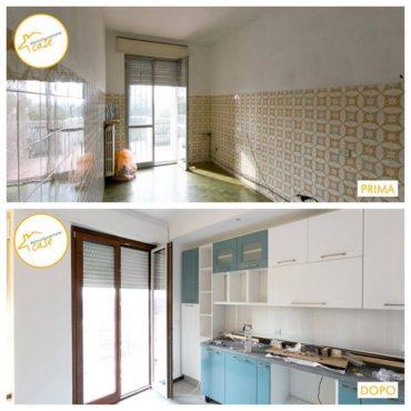 Ristrutturazione case appartamento cucina sala e bagno