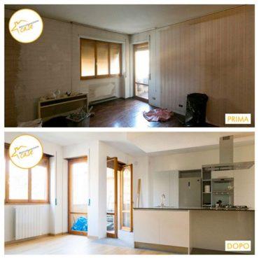 Ristrutturazione case appartamento bilocale cucina 60mq
