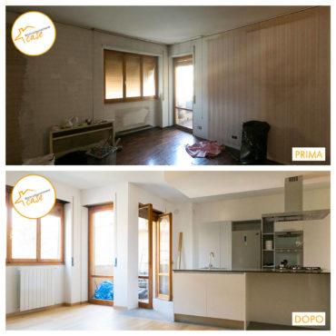 Ristrutturazione Case nuovo stanza rinnovata cucina moderna