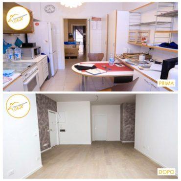 Ristrutturazione case appartamento cucina parquet 61mq