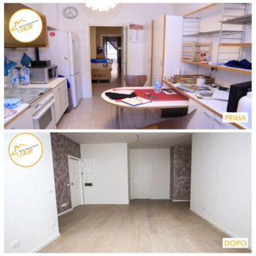 Ristrutturazione Case nuovo stanza rinnovata pavimentazione