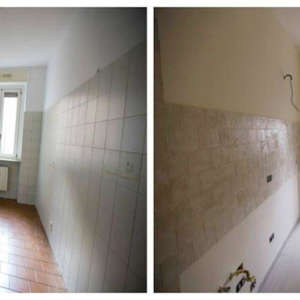 Renovation of two-room apartments, kitchen 69sqm
