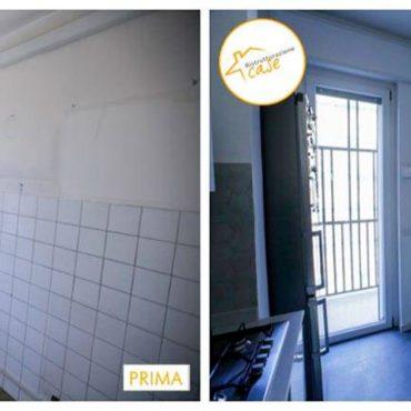 Ristrutturazione case appartamento cucina piastrelle 70mq