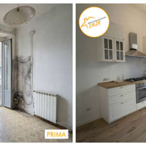 Renovation of two-room apartments, kitchen 63sqm