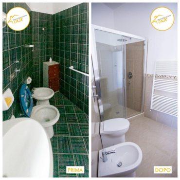 Ristrutturazione case appartamento trilocale bagno 55mq