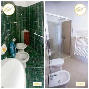 Restrukturierung Häuser Interventionsraum Bad mit Dusche