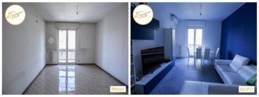 Ristrutturazione Case interventi stanza sala con divano