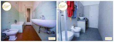 Ristrutturazione Case interventi stanza bagno con doccia