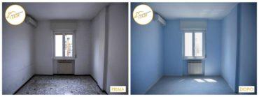 Ristrutturazione case rinnovo totale sala blu