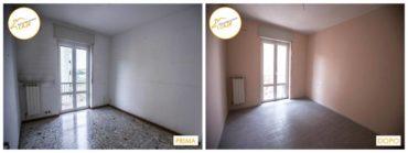 Ristrutturazione case rinnovo totale sala rosa