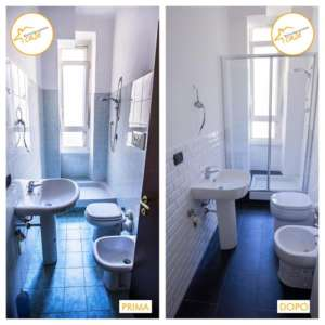 Renovation of total houses with shower cabin