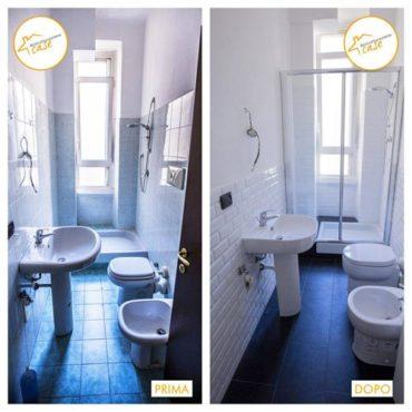 Ristrutturazione case appartamento bilocale bagno 32mq