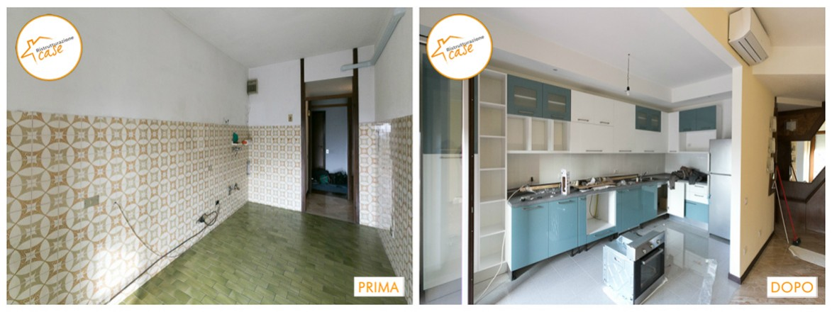 Ristrutturazione cucina sala e bagno in tempi rapidi - Ristrutturazione bagno e cucina ...