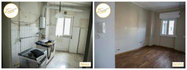 Ristrutturazione Case nuovo stanza rinnovata profondamente listelli parquet