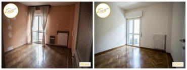 Ristrutturazione Case nuovo stanza rinnovata profondamente parquet lisca