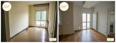 Ristrutturazione Case nuovo stanza rinnovata profondamente parquet