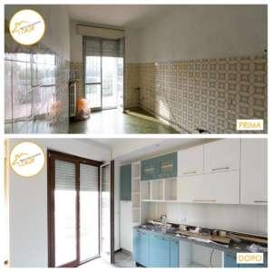 Renovierung neuer Küchen- und Backsteinhäuser