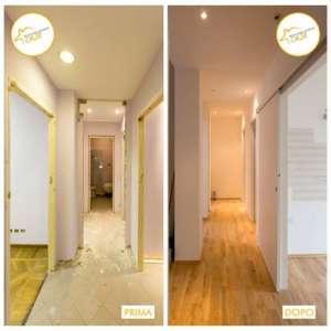 Renovation of three-room houses total 74sqm parquet entrance