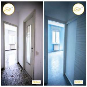 Renovation of total two-room apartments 48sqm entrance