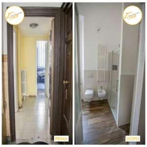 Renovierung von Zwei-Zimmer-Häusern 54mq Parkett Badezimmer