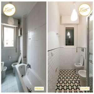 Renovierung des Zwei-Zimmer-Apartments 48mq Badezimmer