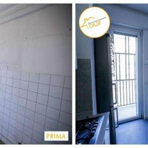 Renovation of apartment houses kitchen tiles 70mq