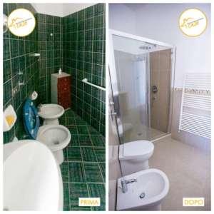 Renovation of houses three-room apartment bathroom 55sqm