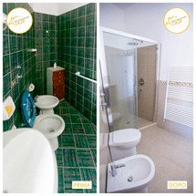 Restructuring of three-room houses, bathroom, 55sqm