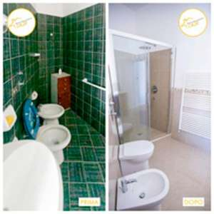 Renovation of three-room apartments with bathroom and shower 55sqm