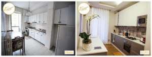 Renovierung von Häusern, moderne Eingriffe in die Küche