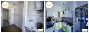 Renovierung von Häusern im Küchenraum