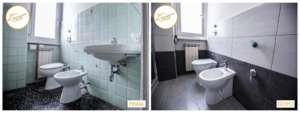 Renovierung der Häuser mit kompletter Sanierung des Badezimmers mit Dusche