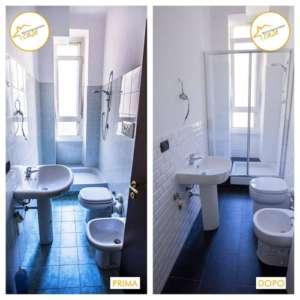 Renovierung des Zwei-Zimmer-Apartments 32mq Badezimmer