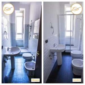 Renovierung von hellen Badezimmerinterventionen