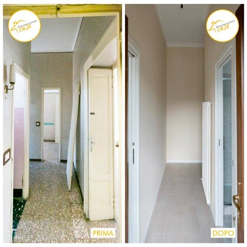 Renovierung der kompletten Zwei-Zimmer-Wohnung 70mq