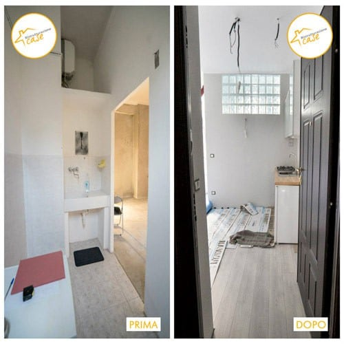 Renovation of complete two-room apartment 51mq