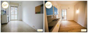 Ristrutturazione case interventi rinnovo spazi cucina con parquet