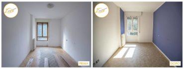 Ristrutturazione Case nuova camera parquet
