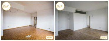 Ristrutturazione Case nuovo stanza rinnovata legno