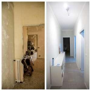 Renovierung der kompletten Zwei-Zimmer-Wohnung 43mq