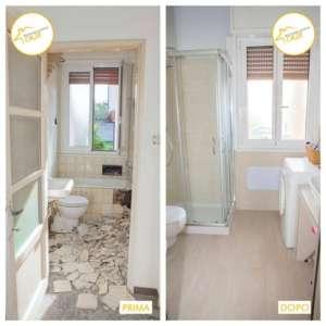 Renovierung von 61qm großen Badezimmerfliesenhäusern