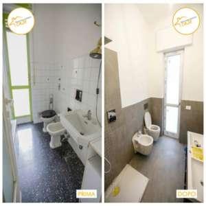 Renovierung von insgesamt 52mXNUMX Parkett-Badehäusern